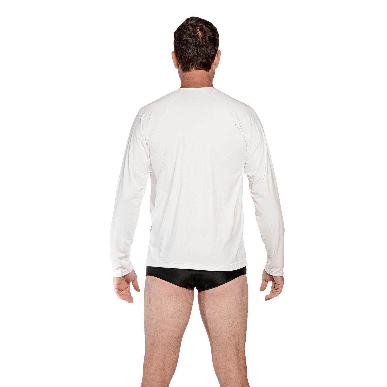 Camiseta Masculina Manga Longa UV 50+ Branco