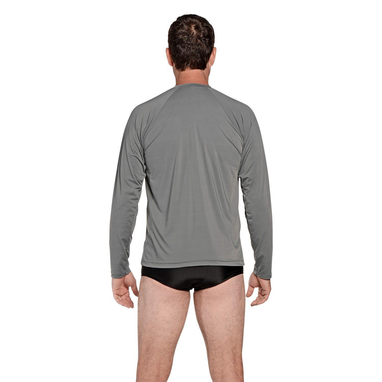 Camiseta Masculina Manga Longa UV 50+ Cinza