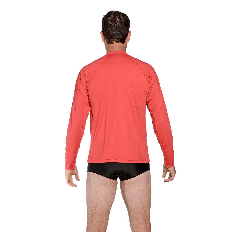 Camiseta Masculina Manga Longa UV 50+ Vermelho