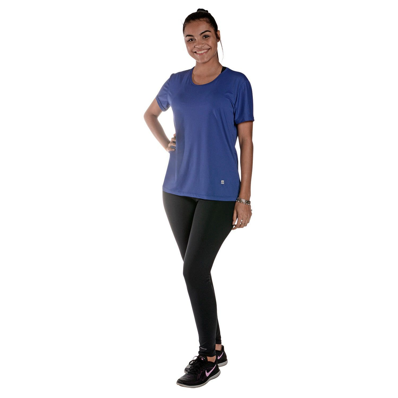 Camiseta Feminina Manga Curta UV 50+ New Trip Azul Bic