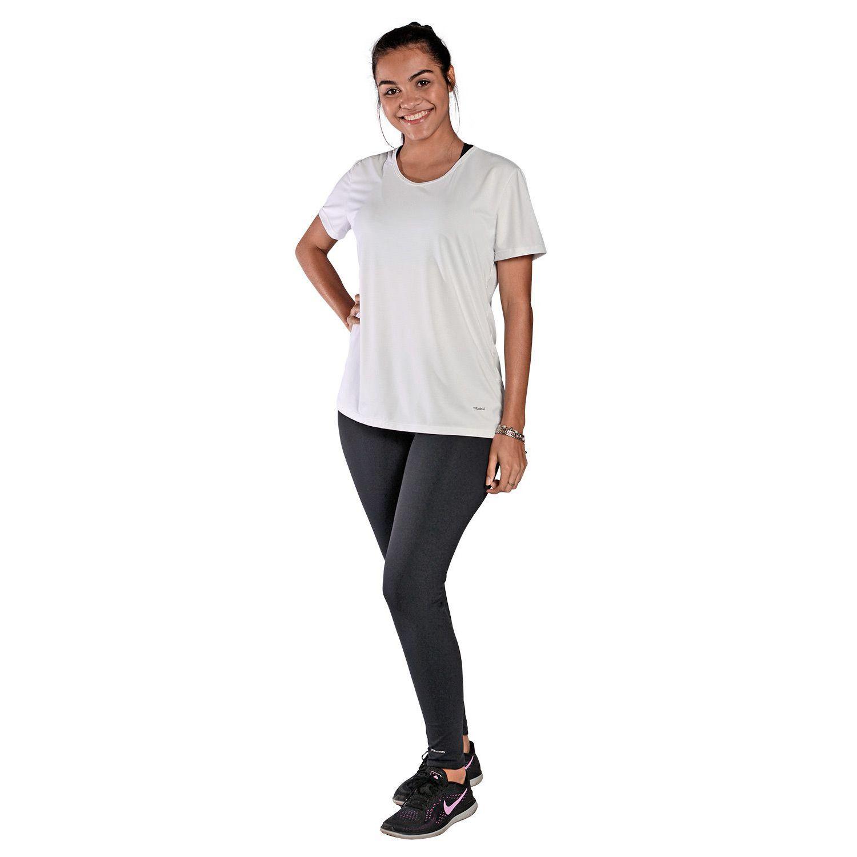 Camiseta Feminina Manga Curta UV 50+ New Trip Branco