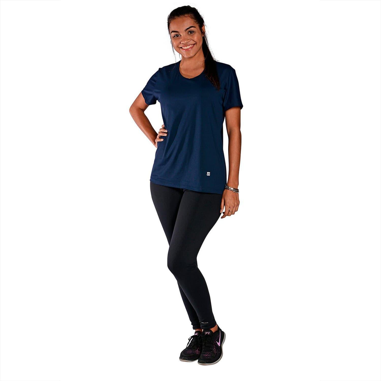 Camiseta Feminina Manga Curta UV 50+ New Trip Azul Marinho