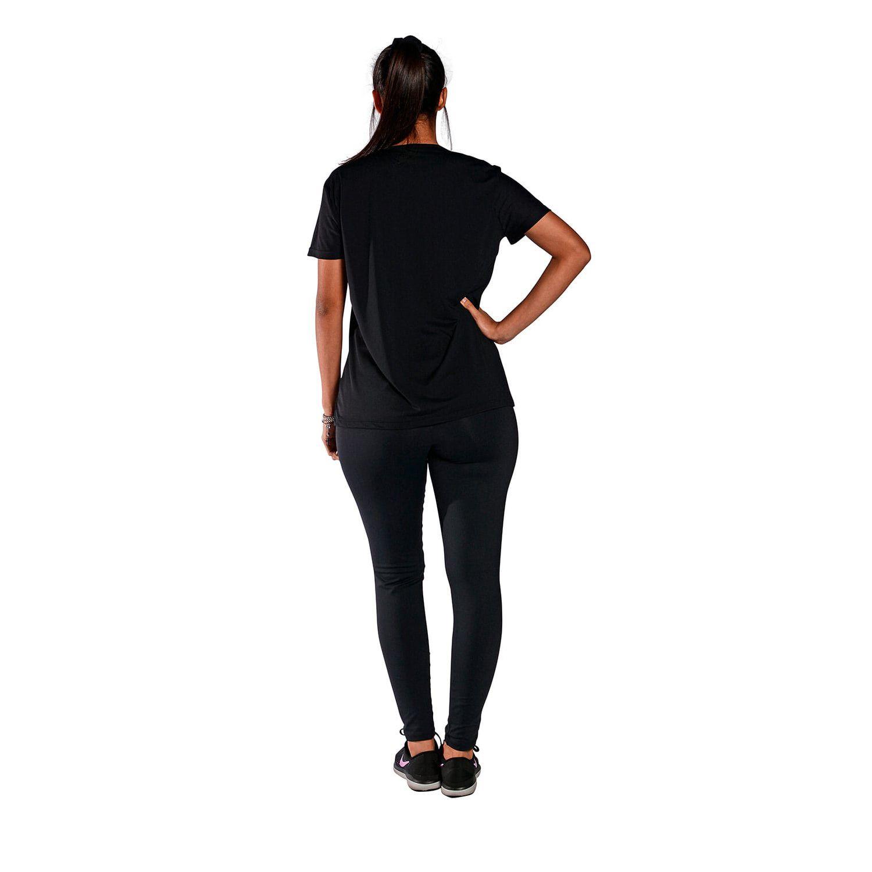 Camiseta Feminina Manga Curta UV 50+ New Trip Preto