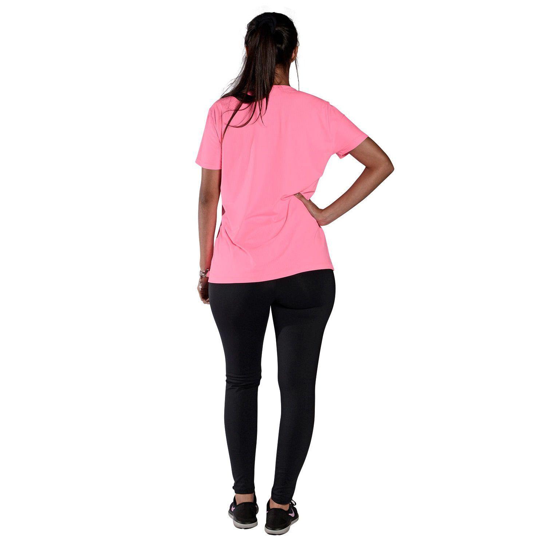 Camiseta Feminina Manga Curta UV 50+ New Trip Rosa Fluorescente