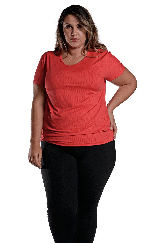 Camiseta Plus Size New Trip Vermelha