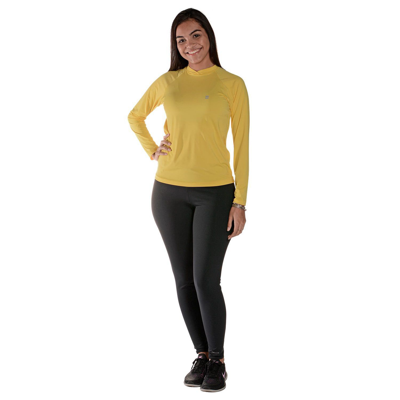 Camiseta Uv Praia Adulto Amarela