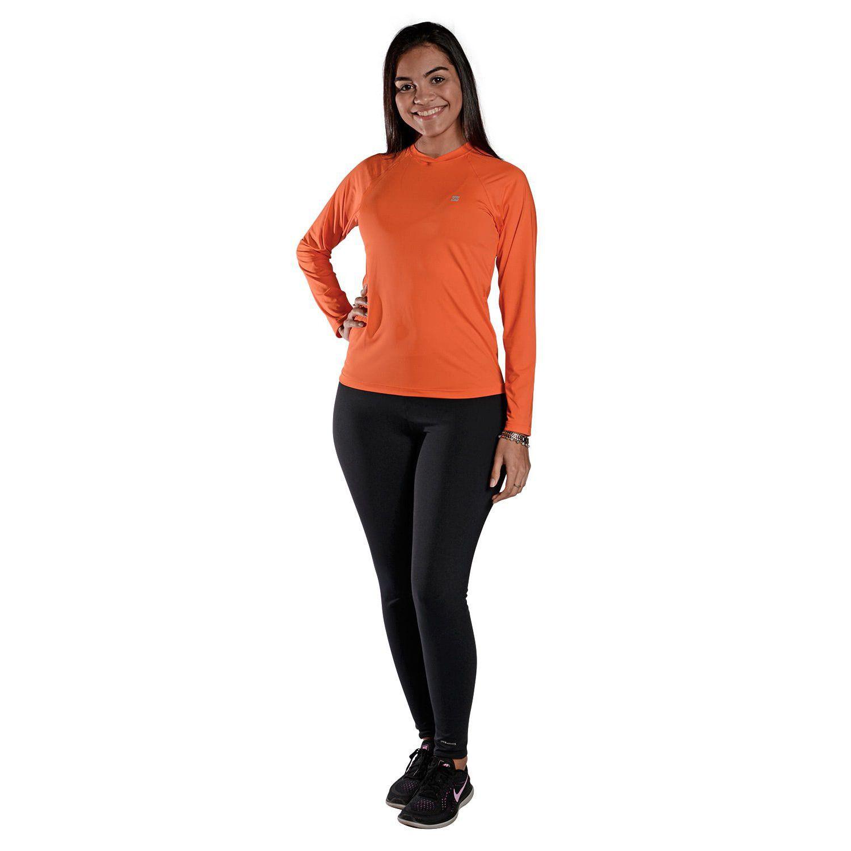 Camiseta Feminina Manga Longa UV 50+ Laranja
