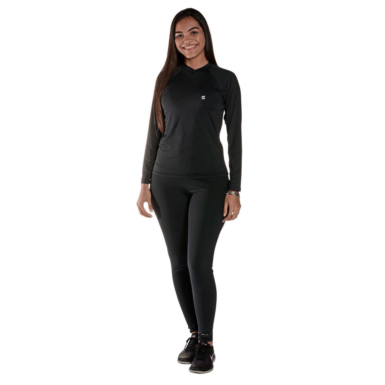 Camiseta Feminina Manga Longa UV 50+ Preto