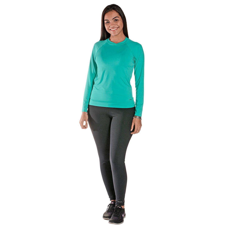 Camiseta Feminina Manga Longa UV 50+ Verde Nanai