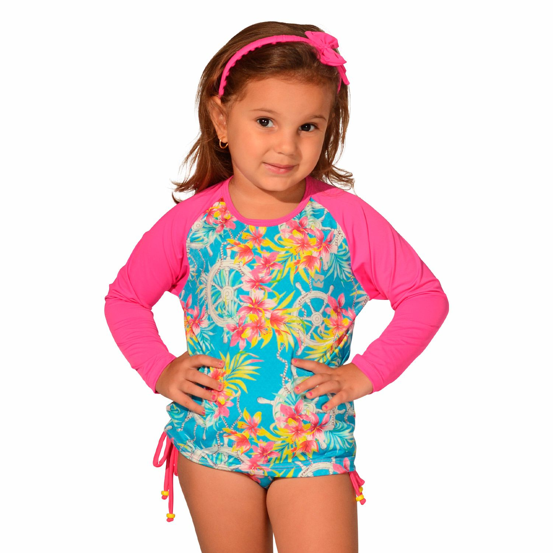 Camiseta Infantil Manga Longa UV 50+ Âncora
