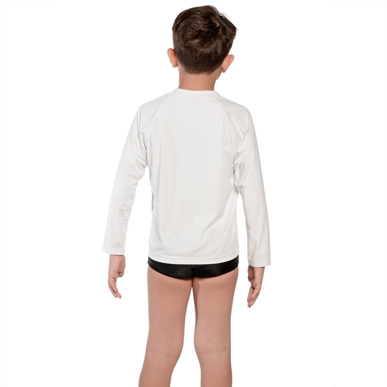 Camiseta Infantil Manga Longa UV 50+ Branco
