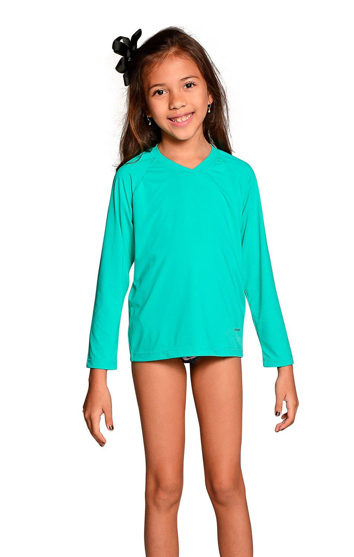 Camiseta Uv Praia Infantil Verde Nanai
