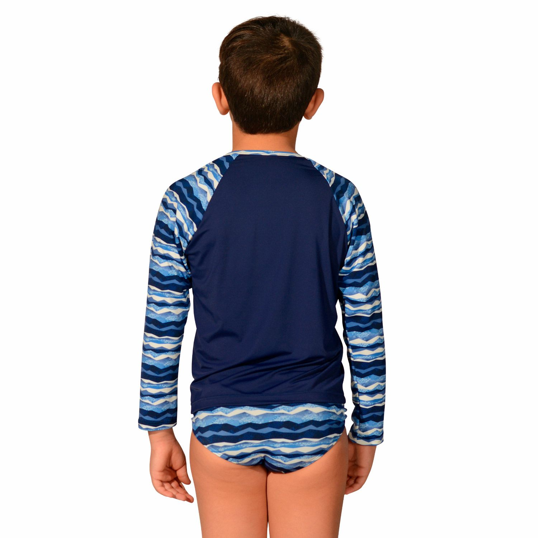 Camiseta Infantil Manga Longa UV 50+ Geométrica