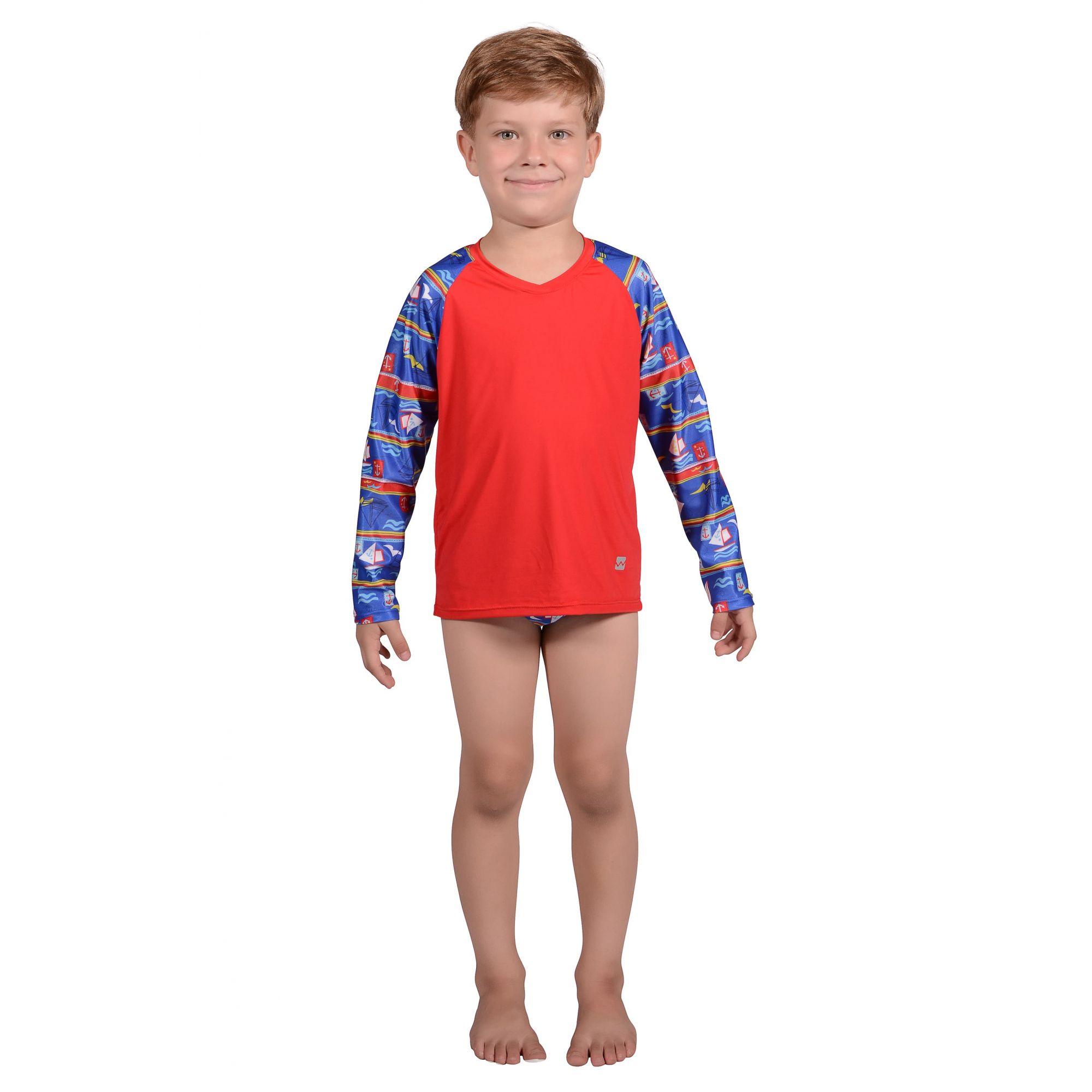 Camiseta Infantil Manga Longa UV 50+ Navy