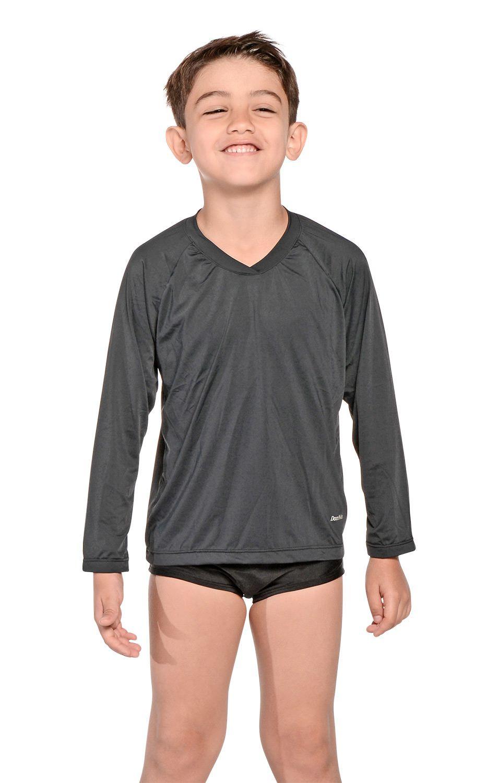 Camiseta Uv Praia Infantil Preta