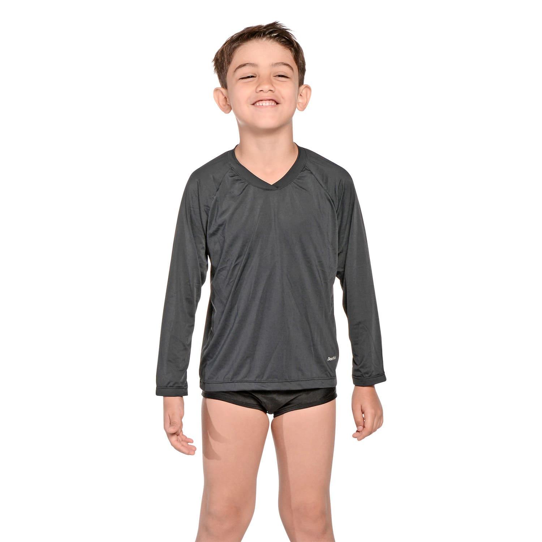 Camiseta Infantil Manga Longa UV 50+ Preto