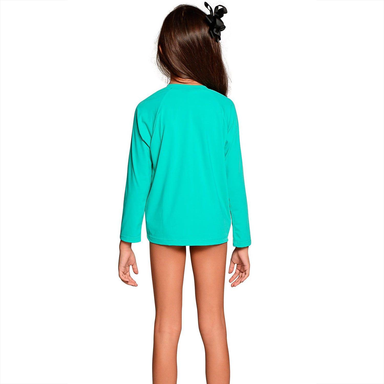 Camiseta Infantil Manga Longa UV 50+ Verde Nanai