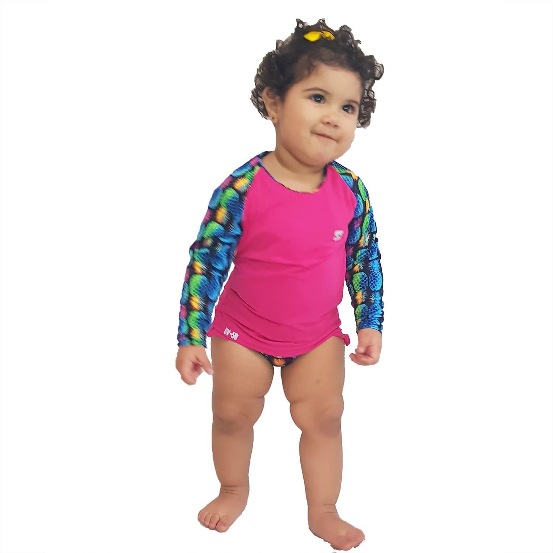 Conjunto Proteção Solar Bebê Infantil Praia UV50+ Abacaxi