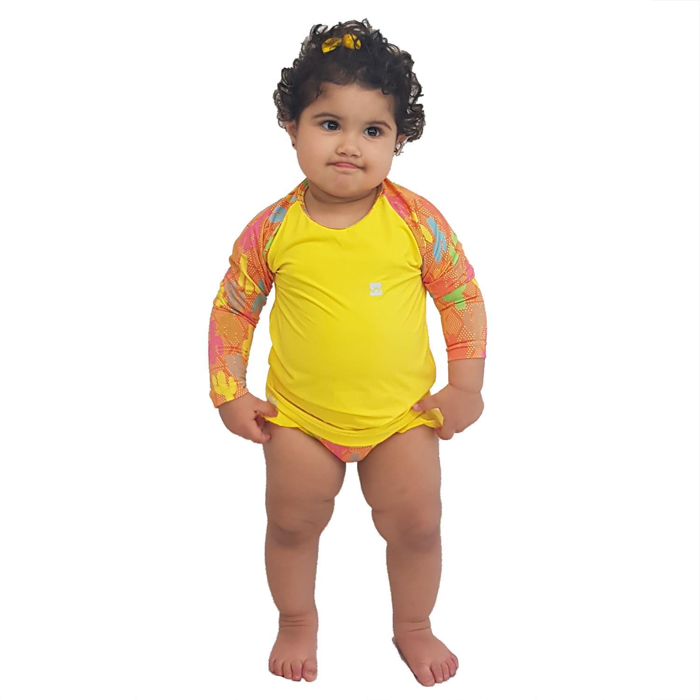 Conjunto Proteção Solar Bebê Infantil Praia UV50+ Caquitos