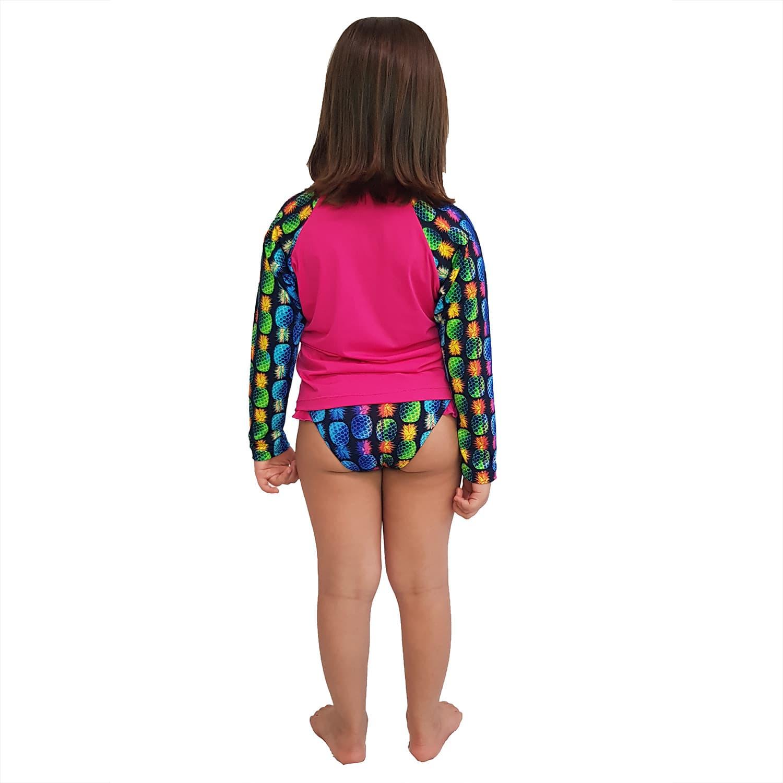 Conjunto Proteção Solar Infantil Praia UV50+ Abacaxi
