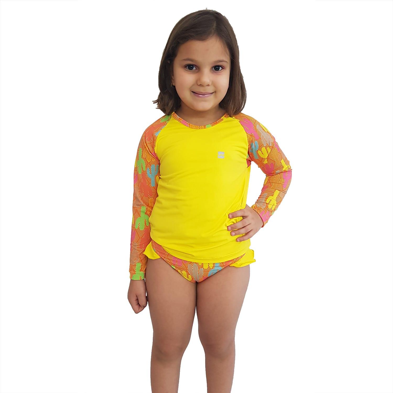 Conjunto Proteção Solar Infantil Praia UV50+ Caquitos