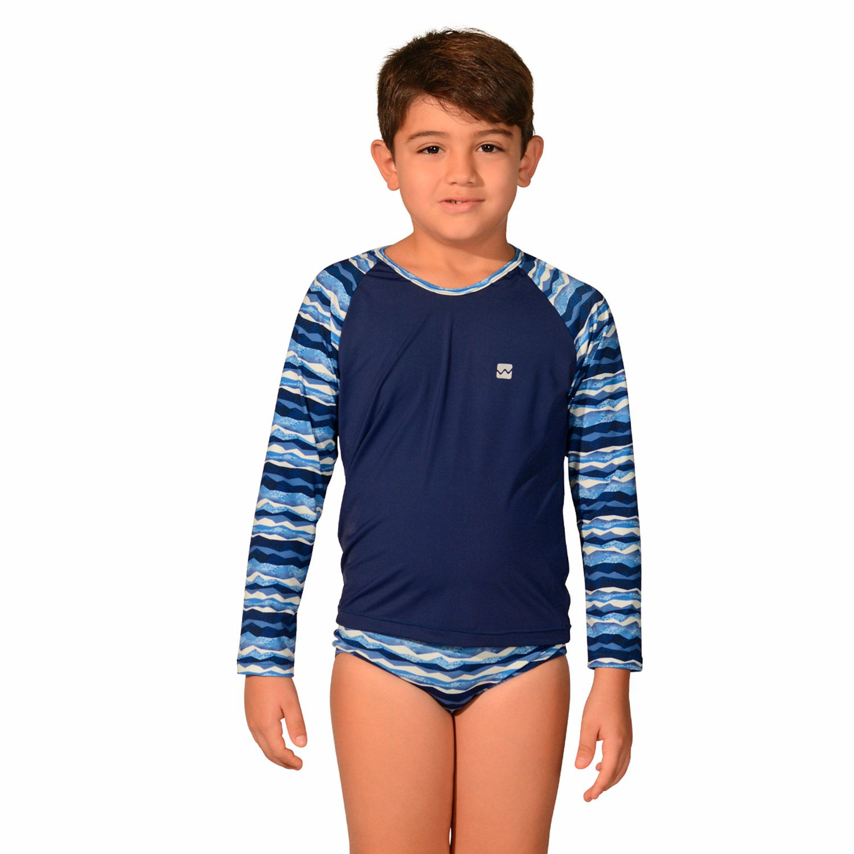 Kit camiseta Uv Infantil Geométrica + Sunga Infantil Geométrica