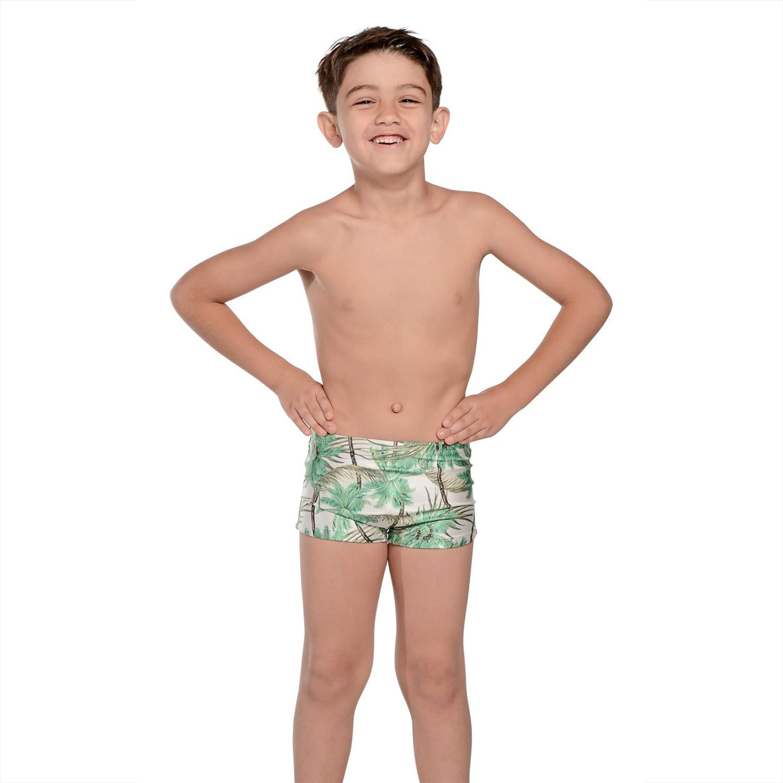 Kit Sunga Adulto Boxer Coqueiro + Sunga Infantil Boxer Coqueiro