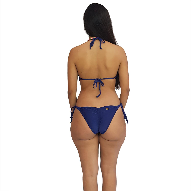 Maiô Body Engana Mamãe com Bojo e Alças Finas Azul Marinho