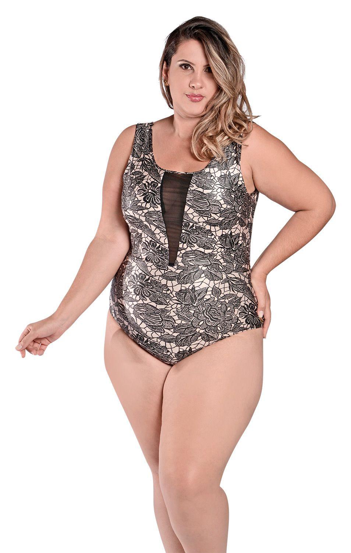 61c3889aa Maiô Body Plus Size Tule Helena Rio | Stewardess | Frete Grátis em ...