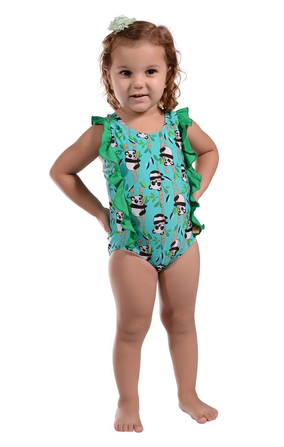 Maiô Infantil Sofia Panda