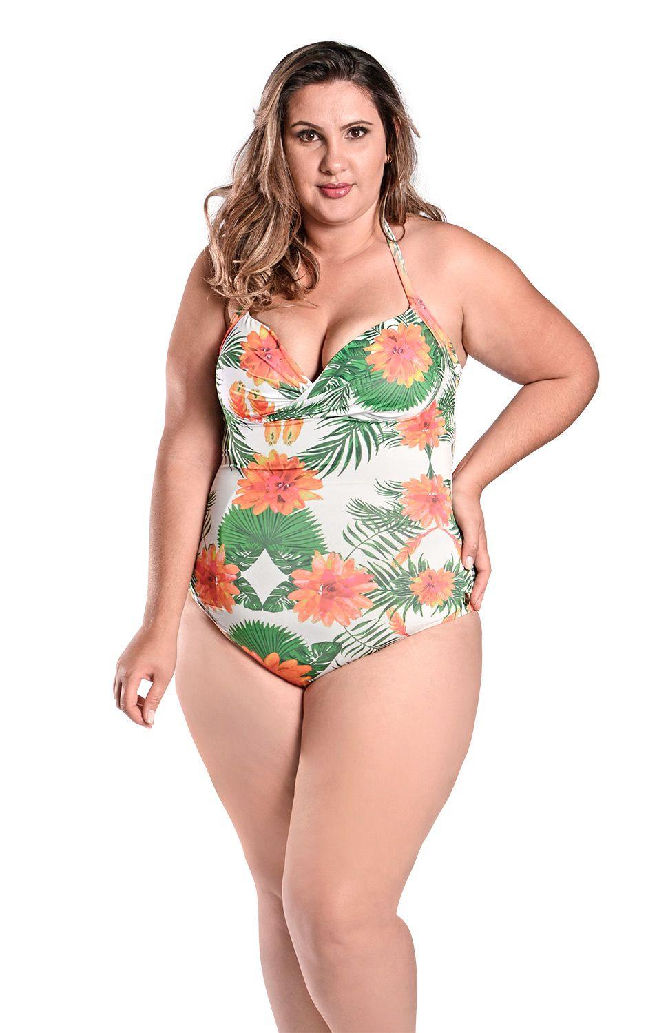 Maiô Plus Size Kelly Bromelia