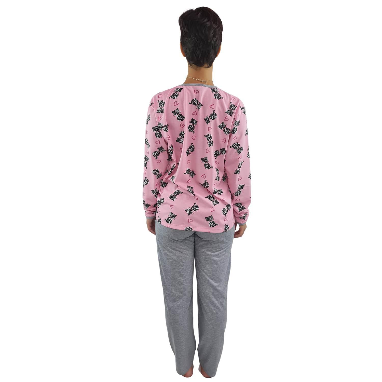 Pijama Longo Feminino Gatinho