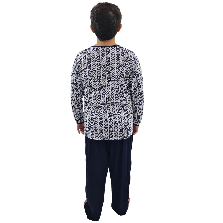 Pijama Longo Infantil Masculino Azul Marinho