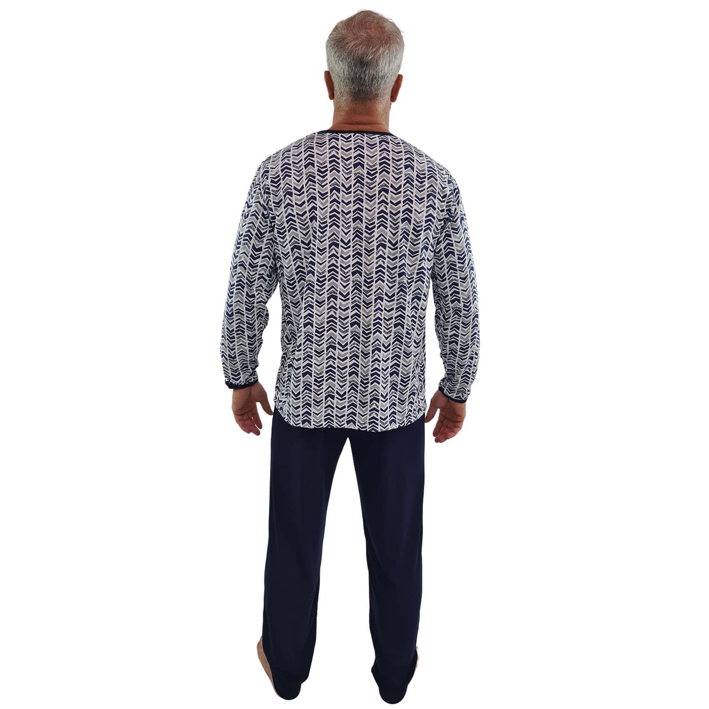 Pijama Longo Masculino Azul Marinho