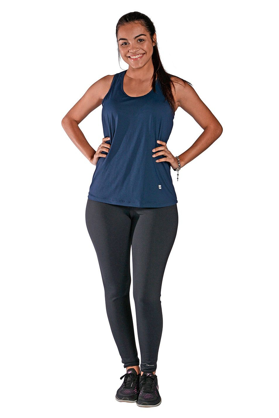 Camiseta Feminina Regata UV 50+ New Trip Azul Marinho