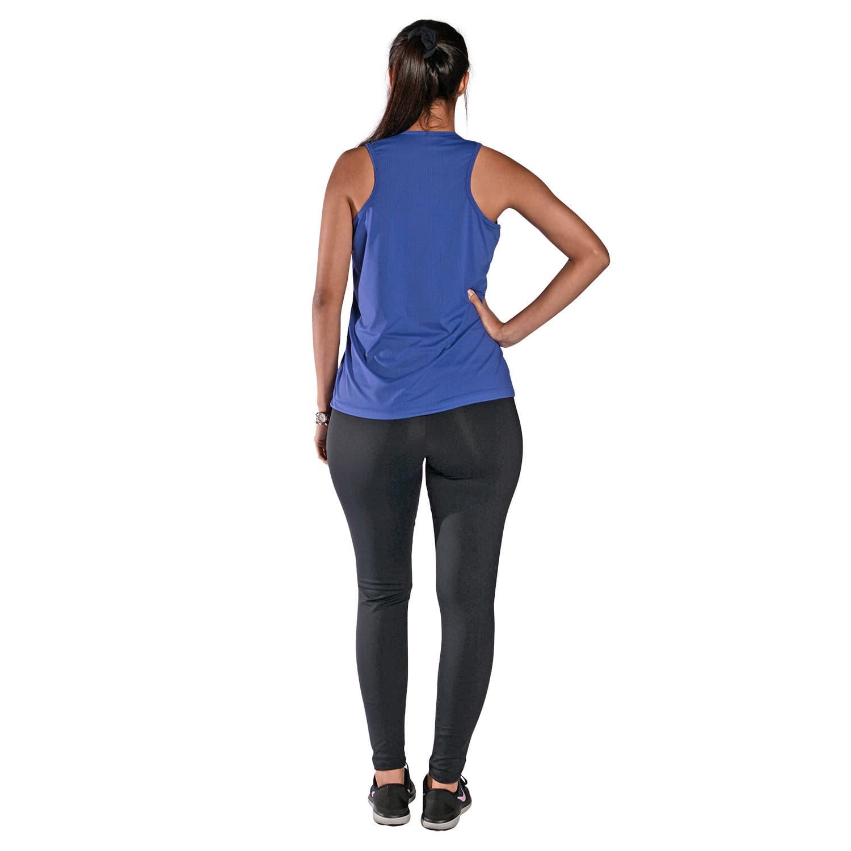 Camiseta Feminina Regata UV 50+ New Trip Azul Bic