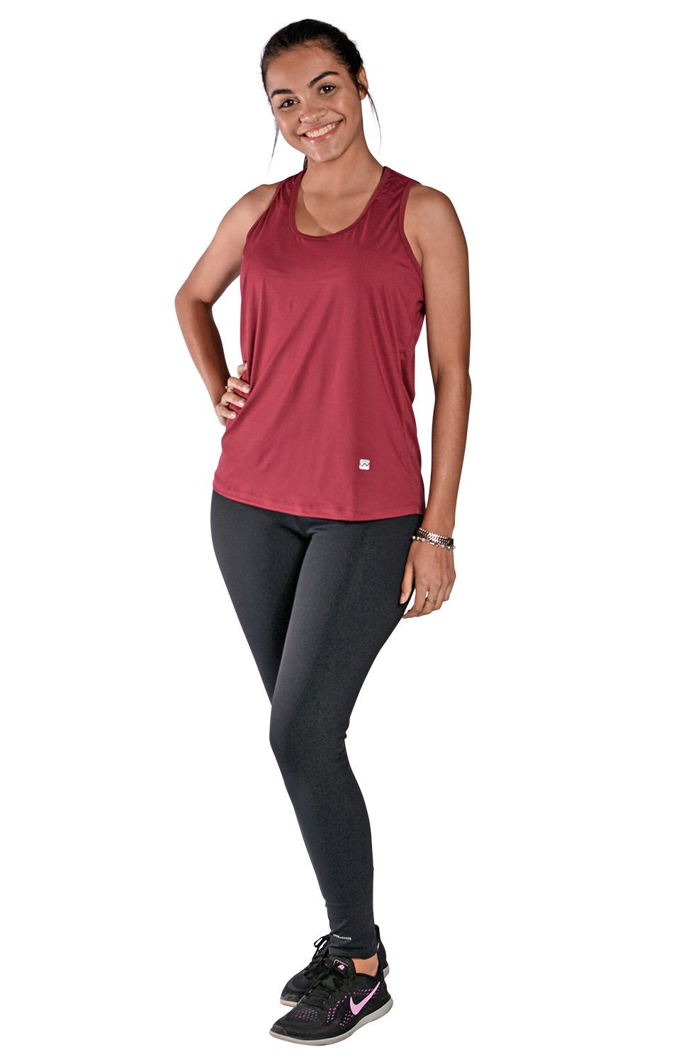 Camiseta Feminina Regata UV 50+ New Trip Marsala