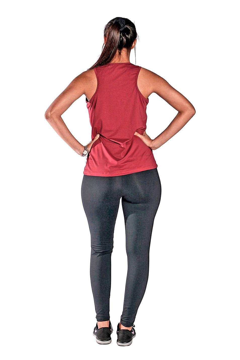 Camiseta Feminina Regata UV 50+ New Trip Marsala