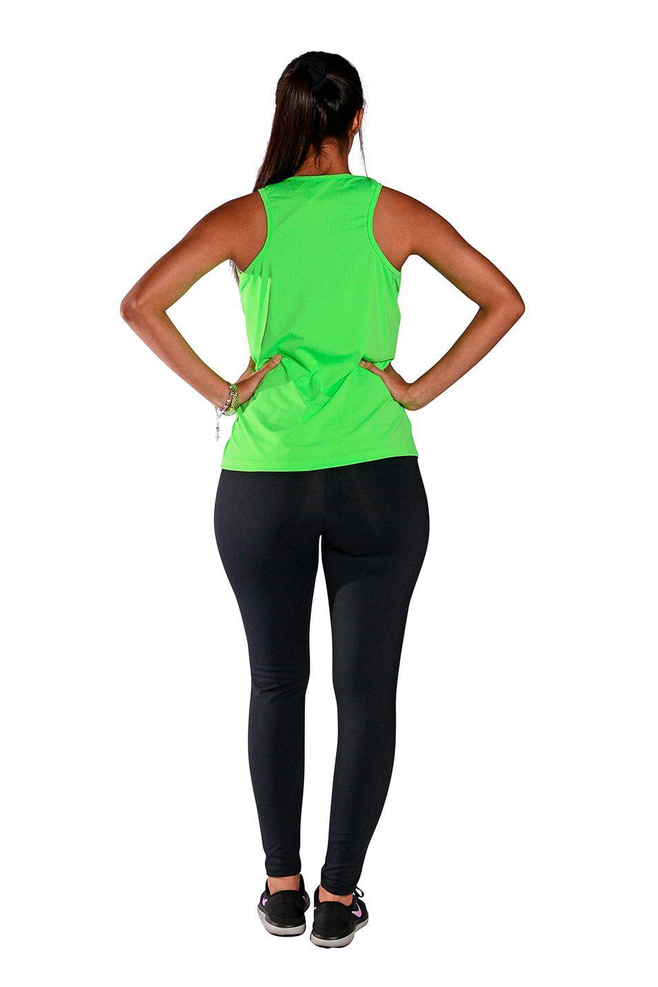 Camiseta Feminina Regata UV 50+ New Trip Verde Fluorescente