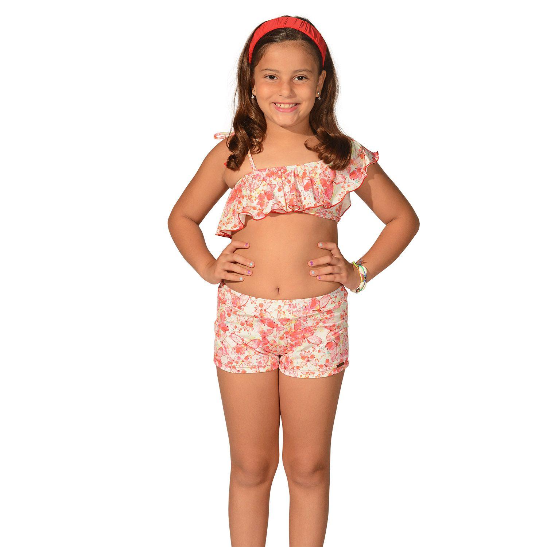 Short Infantil Borboleta
