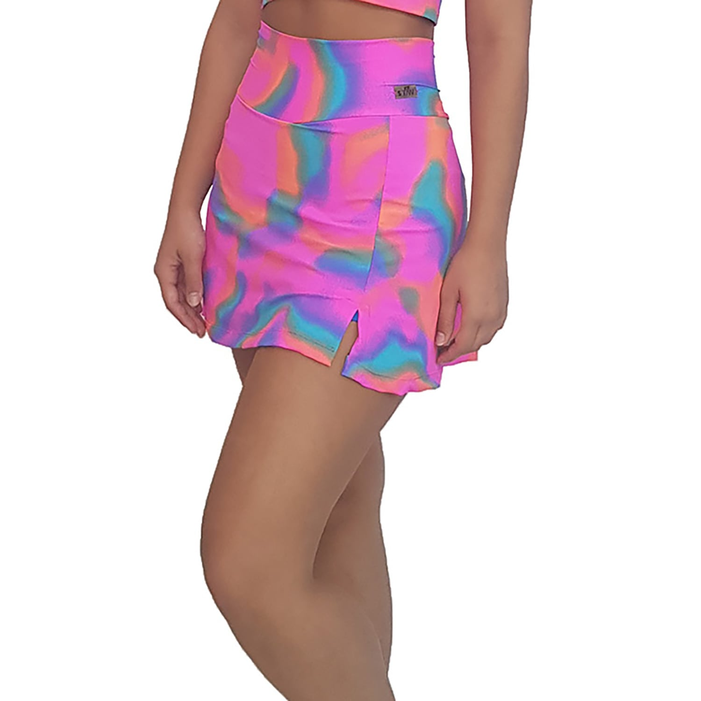 Short Saia Suplex Tie Dye