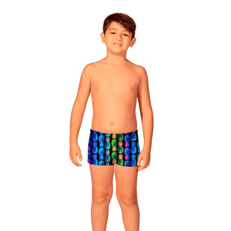 Sunga Infantil Boxer Abacaxi