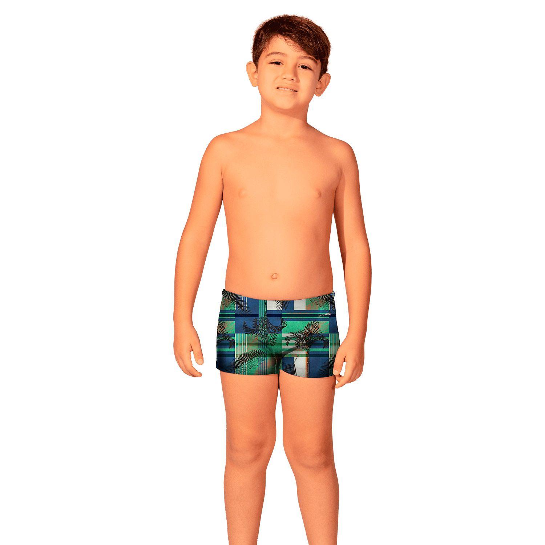Sunga Infantil Boxer Xadrez