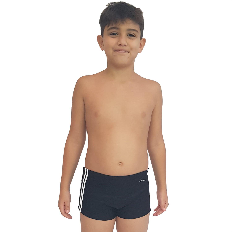 Sunga Teen Boxer com Galão Preto