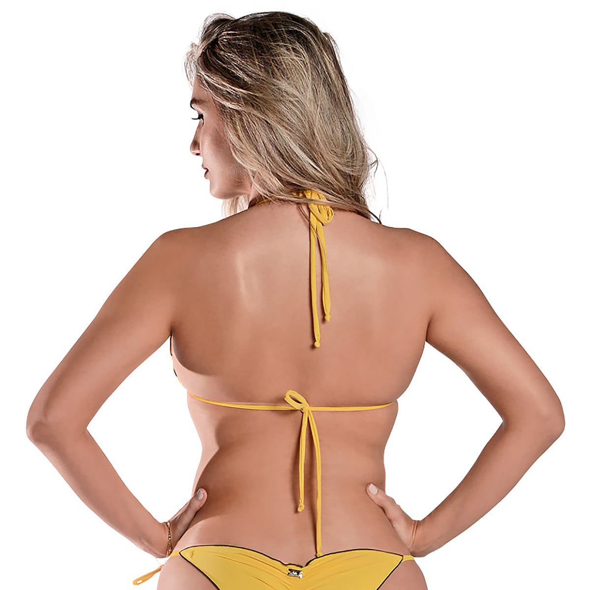 Top Cortininha Ripple Amarelo