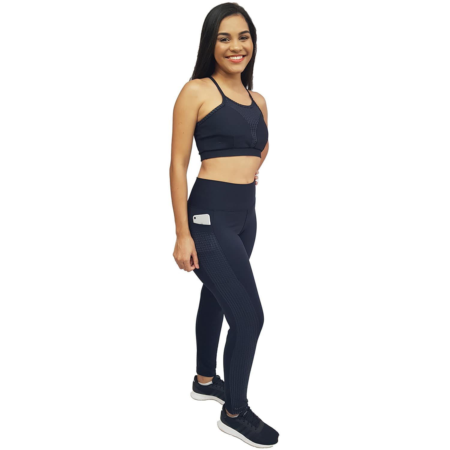 Top Fitness com Alças Finas e Costa Nadador New Zealand Preto