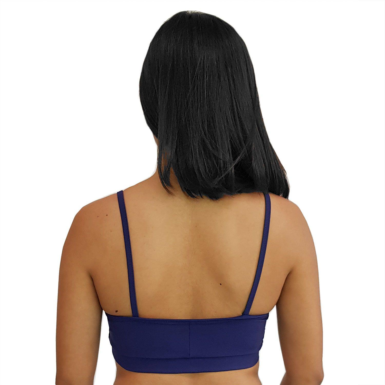 Top Fitness com Alças Finas New Zealand Azul Marinho