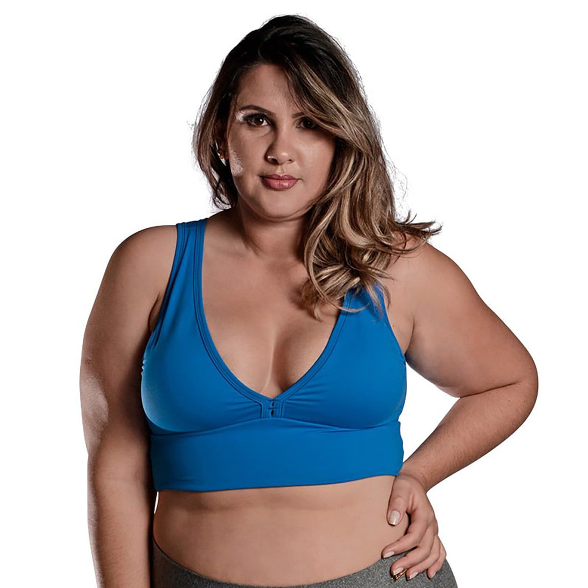 Top Plus Size Light Azul Blau