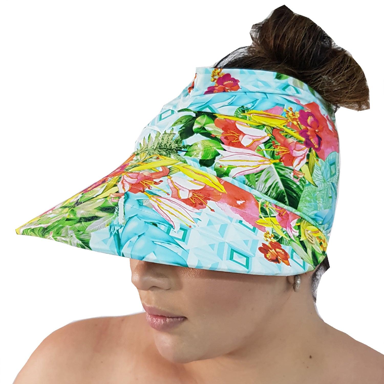 Viseira Turbante com Proteção UV 50+ Quadriculado