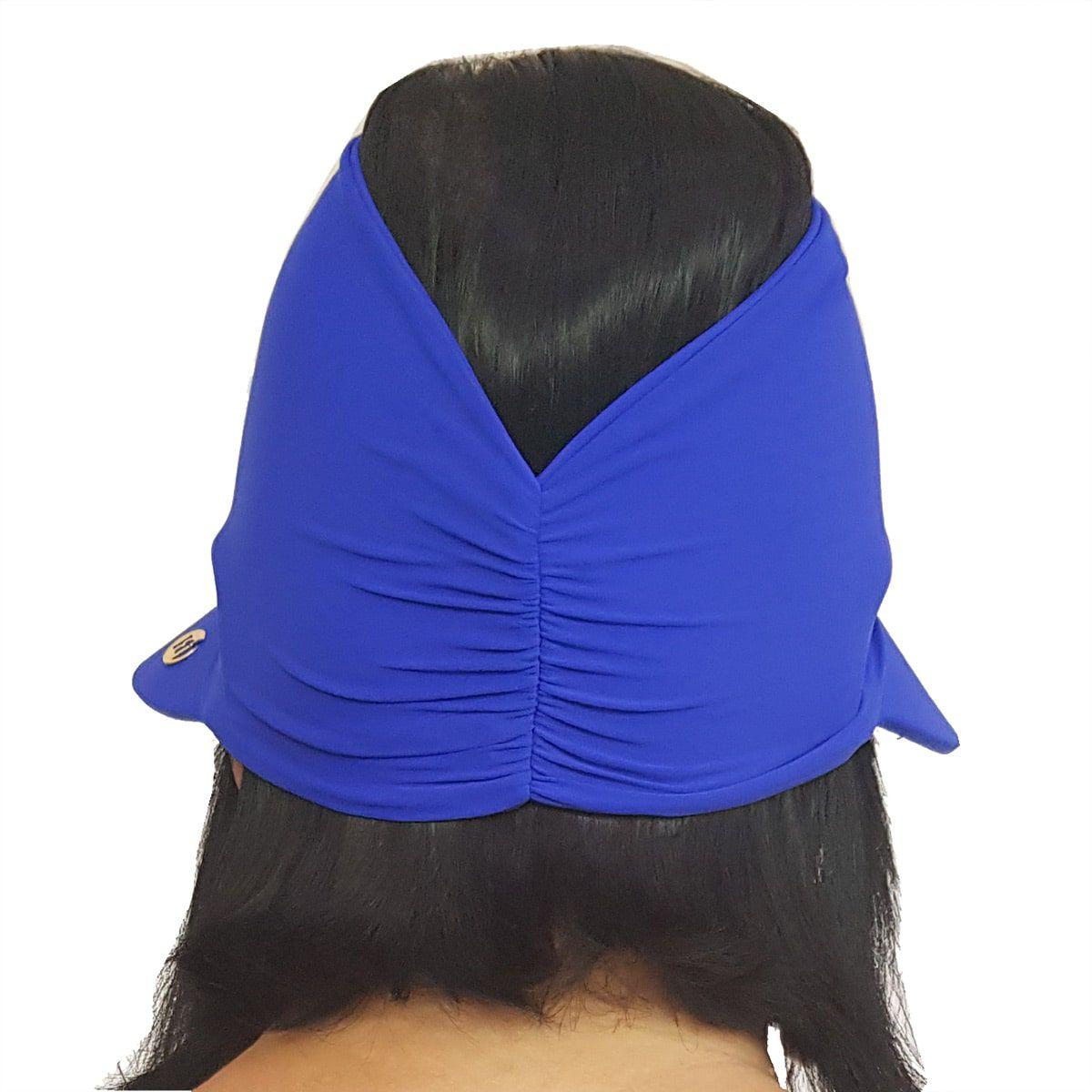 Viseira Turbante com Proteção UV 50+ Azul Bic